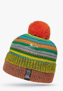 Купить оптом шапки зимние оранжевого цвета 5544-1O в интернет магазине MTFORCE.RU