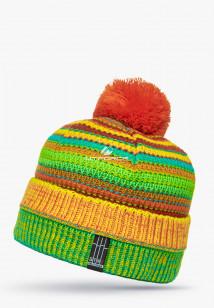 Купить оптом шапки зимние желтого цвета 5544J  в интернет магазине MTFORCE.RU