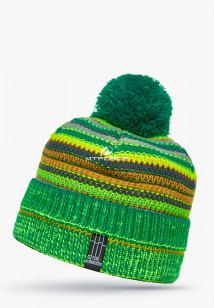 Купить оптом шапки зимние зеленого цвета 5544Z  в интернет магазине MTFORCE.RU