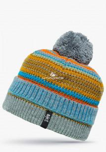 Купить оптом вязанную шапку зимнюю желтого цвета в интернет магазине MTFORCE 5545J