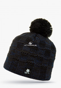 Купить оптом шапки зимние мужская темно-синего цвета 5546TS в интернет магазине MTFORCE.RU