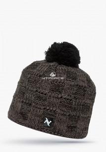 Купить оптом шапки зимние мужская коричневого цвета 5546K в интернет магазине MTFORCE.RU