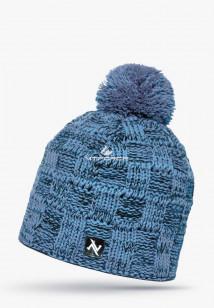 Купить оптом шапки зимние мужская голубого цвета 5546Gl в интернет магазине MTFORCE.RU