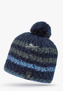 Купить оптом шапки зимние темно-синего цвета 5547TS в интернет магазине MTFORCE.RU