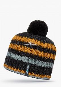Купить оптом шапки зимние оранжевого цвета 5547O в интернет магазине MTFORCE.RU
