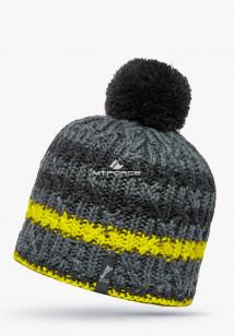 Купить оптом шапки зимние желтого цвета 5547J в интернет магазине MTFORCE.RU