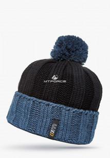 Купить оптом шапки зимние мужская черного цвета 5548Ch в интернет магазине MTFORCE.RU