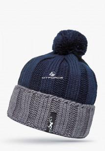 Купить оптом шапки зимние мужская серого цвета 5548Sr в интернет магазине MTFORCE.RU