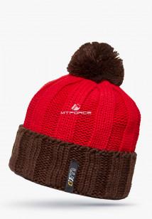 Купить оптом шапки зимние мужская красного цвета 5548Kr в интернет магазине MTFORCE.RU