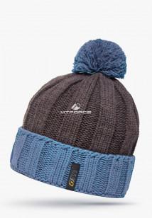 Купить оптом шапки зимние мужская темно-серого цвета 5548TC в интернет магазине MTFORCE.RU
