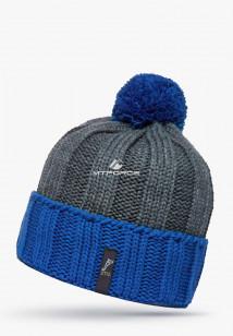 Купить оптом шапки зимние мужская синего цвета 5548S в интернет магазине MTFORCE.RU