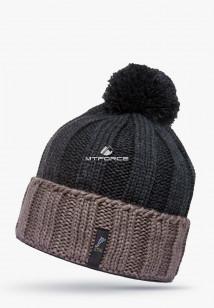 Купить оптом шапки зимние мужская бежевого цвета 5548B в интернет магазине MTFORCE.RU