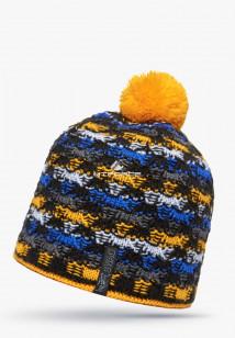 Купить оптом шапки зимние оранжевого цвета 5549O в интернет магазине MTFORCE.RU