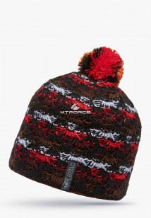 Купить оптом шапки зимние красного цвета 5549Kr в интернет магазине MTFORCE.RU