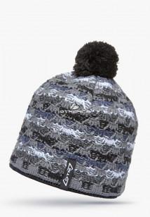 Купить оптом шапки зимние серого цвета 5549Sr в интернет магазине MTFORCE.RU