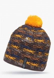 Купить оптом шапки зимние оранжевого цвета 5549-1O в интернет магазине MTFORCE.RU