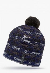 Купить оптом шапки зимние темно-синего цвета 5549TS в интернет магазине MTFORCE.RU