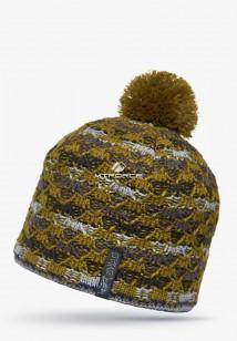 Купить оптом шапки зимние коричневого цвета 5549K в интернет магазине MTFORCE.RU