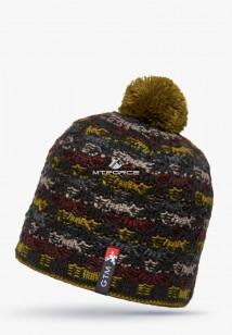 Купить оптом шапки зимние темно-серого цвета 5549TC в интернет магазине MTFORCE.RU