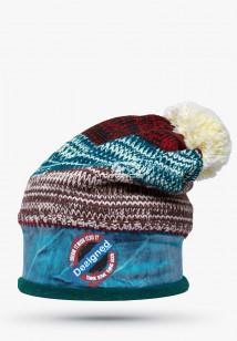 Купить оптом шапки зимние бордового цвета 5590Bo  в интернет магазине MTFORCE.RU