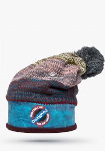 Купить оптом шапки зимние бежевого цвета 5590B  в интернет магазине MTFORCE.RU
