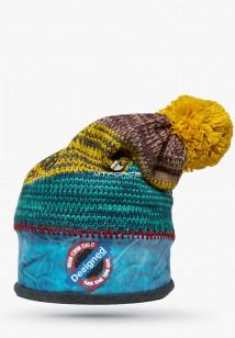 Купить оптом шапки зимние желтого цвета 5590J  в интернет магазине MTFORCE.RU