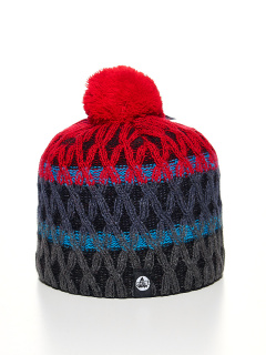 Купить оптом вязанную шапку зимнюю голубого цвета в интернет магазине MTFORCE 5925Kr