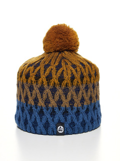 Купить оптом вязанную шапку зимнюю оранжевого цвета в интернет магазине MTFORCE 5925O