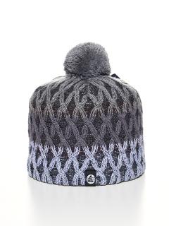 Купить оптом вязанную шапку зимнюю серого цвета в интернет магазине MTFORCE 5925Sr