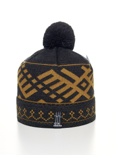 Купить оптом вязанную шапку зимнюю оранжевого цвета в интернет магазине MTFORCE 5926O