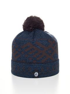 Купить оптом вязанную шапку зимнюю темно-синего цвета в интернет магазине MTFORCE 5926TS