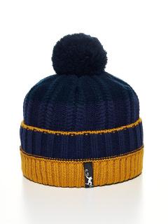 Купить оптом вязанную шапку зимнюю горчичного цвета в интернет магазине MTFORCE 5927G