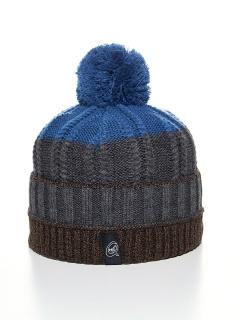 Купить оптом вязанную шапку зимнюю коричневого цвета в интернет магазине MTFORCE 5927K