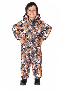 Купить оптом комбинезон горнолыжный детский оранжевого цвета 6104O в интернет магазине MTFORCE.RU