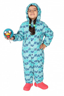 Купить оптом комбинезон горнолыжный детский бирюзового цвета 6106Br в интернет магазине MTFORCE.RU