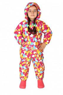 Купить оптом комбинезон горнолыжный детский розового цвета 6110R в интернет магазине MTFORCE.RU