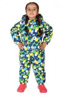 Купить оптом комбинезон горнолыжный детский синего цвета 6110S в интернет магазине MTFORCE.RU