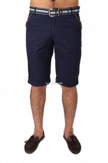 Купить оптом шорты городского стиля темно-синего цвета 6191TS в интернет магазине MTFORCE.RU