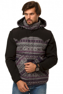 Купить оптом жилетка мужская утепленная фиолетового цвета 666F в интернет магазине MTFORCE.RU