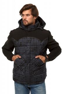 Купить оптом жилетка мужская утепленная темно-серого цвета 666TC в интернет магазине MTFORCE.RU