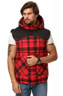 Купить оптом жилетка мужская утепленная красного цвета 666Kr в интернет магазине MTFORCE.RU