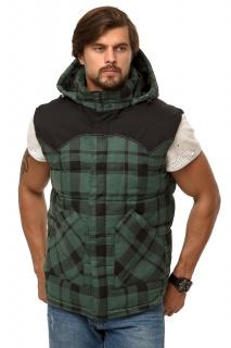 Купить оптом жилетка мужская утепленная зеленого цвета 666Z в интернет магазине MTFORCE.RU