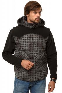Купить оптом жилетка мужская утепленная серого цвета 666Sr в интернет магазине MTFORCE.RU