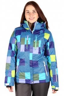 Купить оптом куртка горнолыжная женская синего цвета 68S в интернет магазине MTFORCE.RU