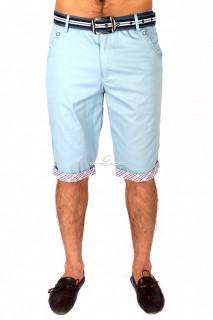 Купить оптом шорты городского стиля бирюзового цвета 6991Br в интернет магазине MTFORCE.RU