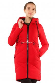 Интернет магазин MTFORCE.ru предлагает купить оптом куртку женскую зимнюю молодежную красного цвета 7167Kr по выгодной и доступной цене с доставкой по всей России и СНГ