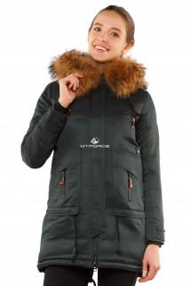 Интернет магазин MTFORCE.ru предлагает купить оптом куртку парку с натуральным мехом енот темно-зеленого цвета 7170TZ по выгодной и доступной цене с доставкой по всей России и СНГ