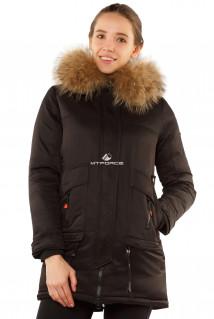 Интернет магазин MTFORCE.ru предлагает купить оптом куртку парку с натуральным мехом енот черного цвета 7170Ch по выгодной и доступной цене с доставкой по всей России и СНГ