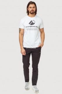 Купить оптом брюки спортивные мужские черного цвета 7190Ch в интернет магазине MTFORCE.RU