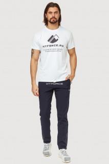 Купить оптом брюки спортивные мужские темно-синего цвета 7190TS в интернет магазине MTFORCE.RU